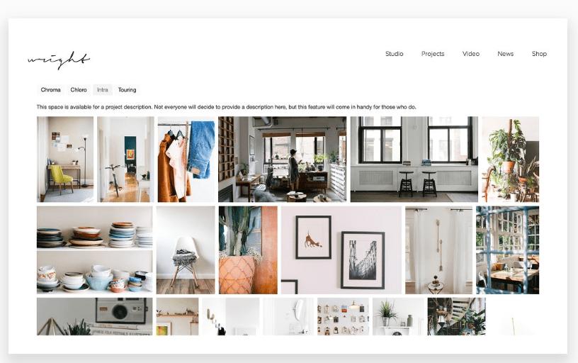 theme for photographers - minimal