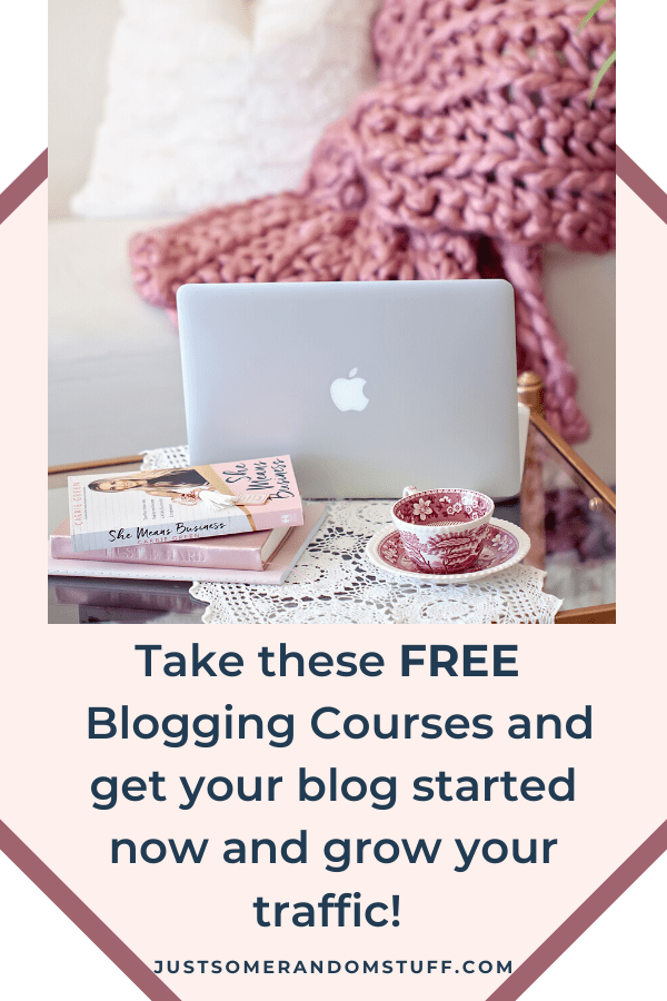 free courses for bloggers Pin