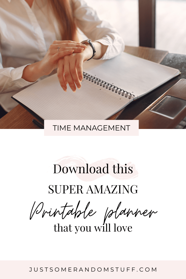 Manage my time - Download this printable planner
