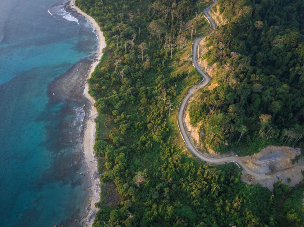 Aerial photo of one of the Andaman Islands - travel bucket list